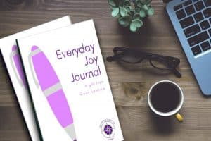 Photo of companion journal for Everyday Joy booklet